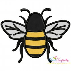 Honey Bee-3 Applique Design