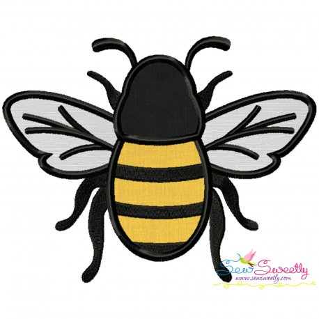 Honey Bee-3 Applique Design Pattern- Category- Insects And Bugs Designs- 1