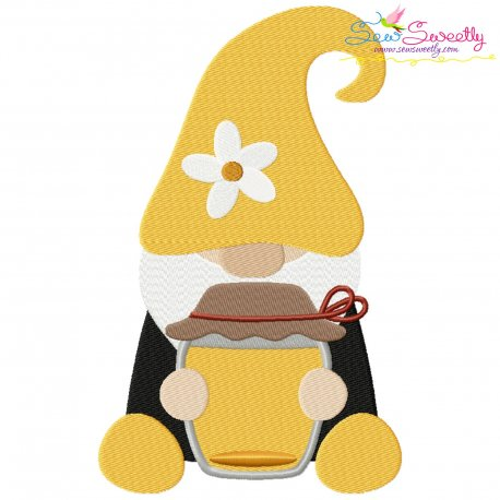 Gnome Honey Pot Embroidery Design