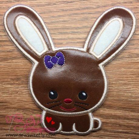 Cute Miss Bunny Applique Design
