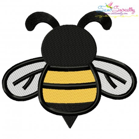 Honey Bee-1 Embroidery Design Pattern- Category- Insects And Bugs Designs- 1