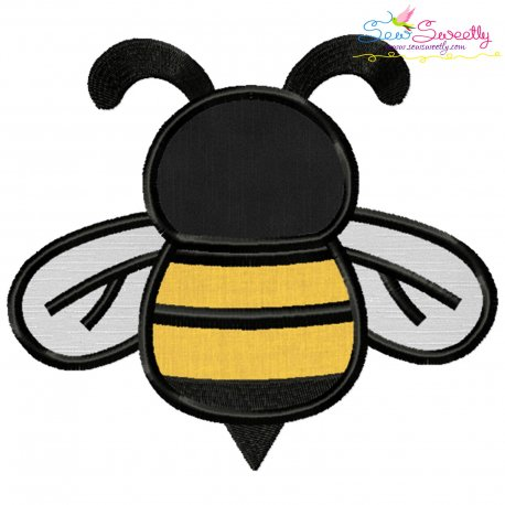 Honey Bee-1 Applique Design Pattern- Category- Insects And Bugs Designs- 1