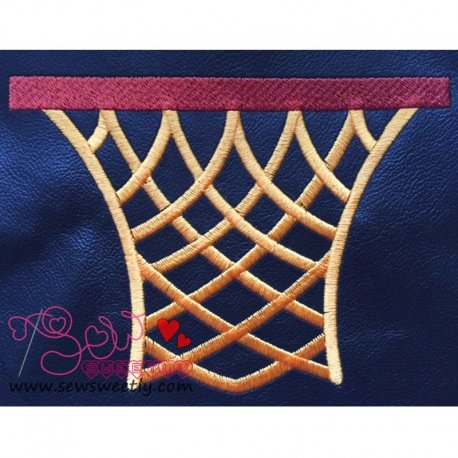 Basketball Net Embroidery Design For Sports Event