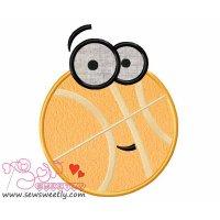 Cartoon Basketball Applique Design