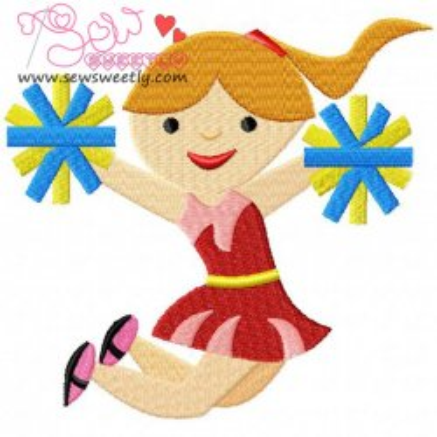 Cheerleader-1 Embroidery Design