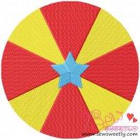 Circus Ball Embroidery Design
