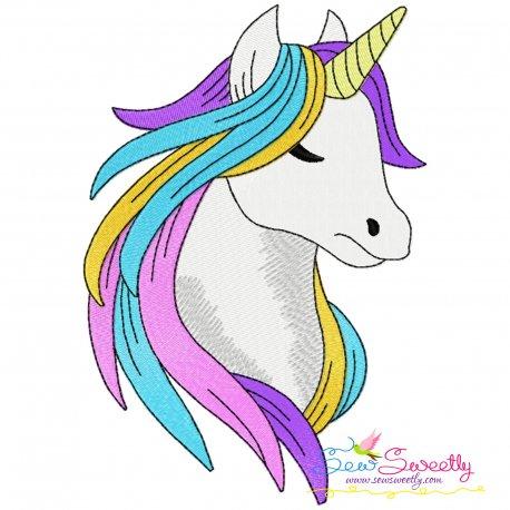 Unicorn Head-3 Embroidery Design