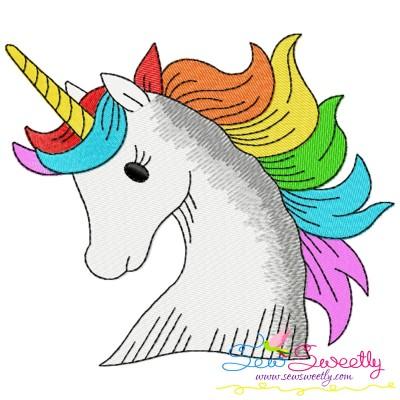 Unicorn Head-2 Embroidery Design