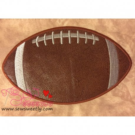 Football Applique Design For Sports Event