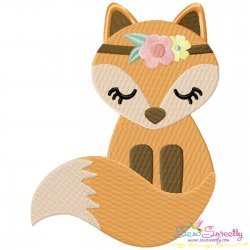 Boho Fox Embroidery Design Pattern- Category- Animals Designs- 1
