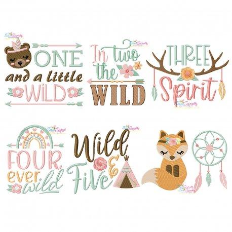 Boho Birthday Embroidery Design Bundle Pattern- Category- Embroidery Design Bundles- 1