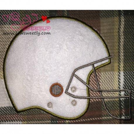 Football Helmet Applique Design For Sports Event