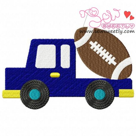 Football Truck Embroidery Design Pattern- Category- Sports Designs- 1