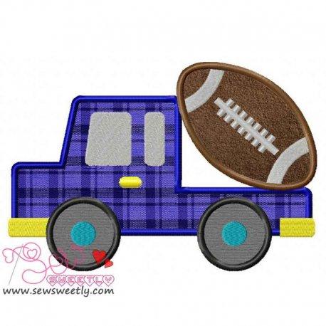 Football Truck Applique Design For Sports Event