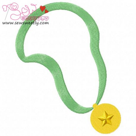 Gold Medal Embroidery Design For Sports Event