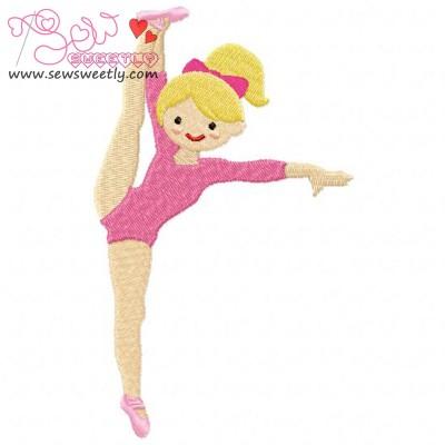 Gymnastics Girl-2 Embroidery Design