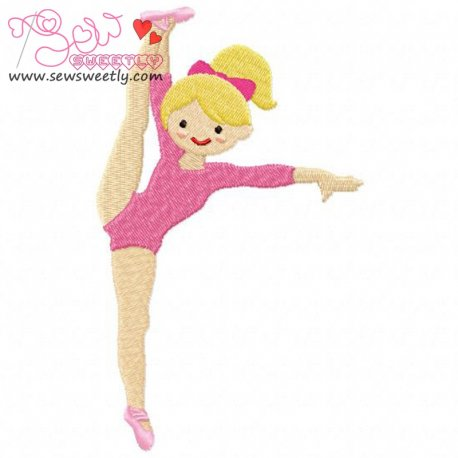 Gymnastics Girl-2 Embroidery Design For Sports Event And Kids