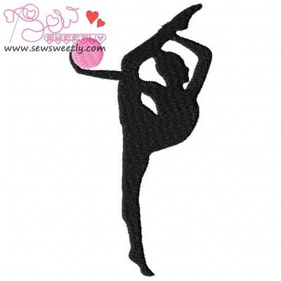 Rhythmic Gymnastics With Ball Embroidery Design