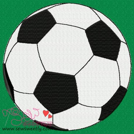 Soccer Ball Embroidery Design For Sports Event