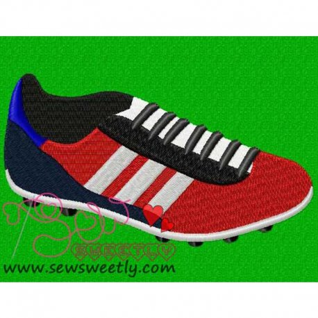 Soccer Boot Embroidery Design For Sports Event