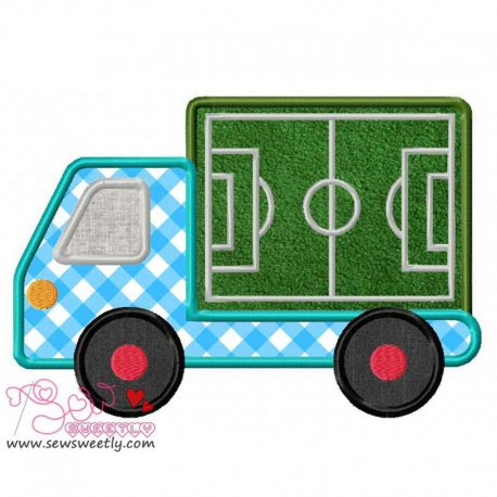 Soccer Field Truck Applique Design For Sports Event