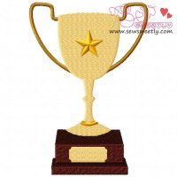 Trophy Embroidery Design