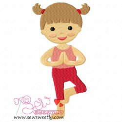 Yoga Girl-1 Embroidery Design