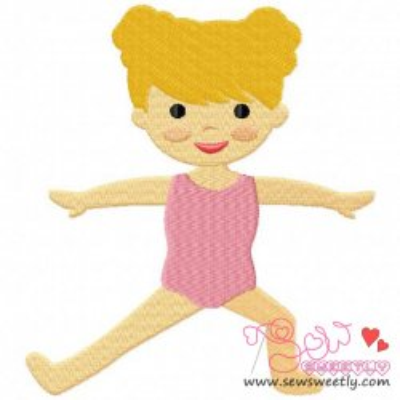 Yoga Girl-2 Embroidery Design