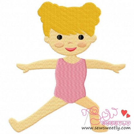 Yoga Girl-2 Embroidery Design For Sports Event And Kids