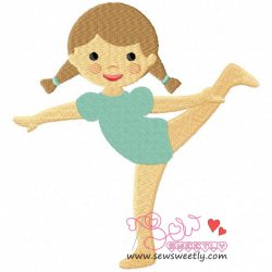 Yoga Girl-4 Embroidery Design