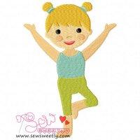 Yoga Girl-5 Embroidery Design