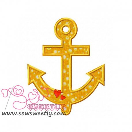 Anchor Applique Design For Hand Towels And Other Projects