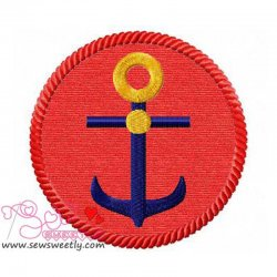 Anchor Badge Applique Design