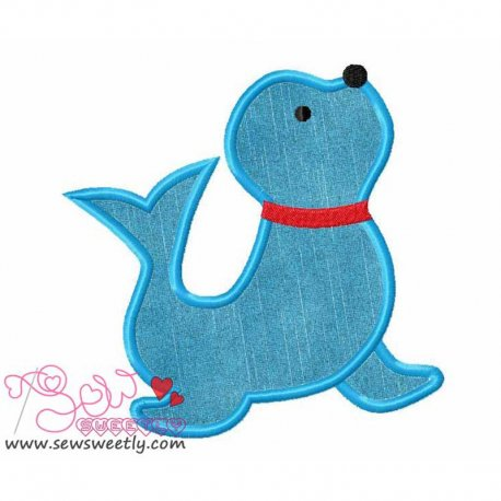 Circus Seal Applique Design For Kids