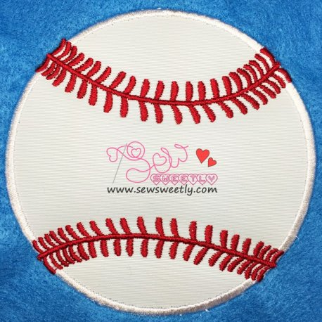 Baseball Applique Design For Sports Event