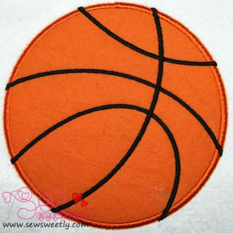 Basketball Applique Design For Sports Event