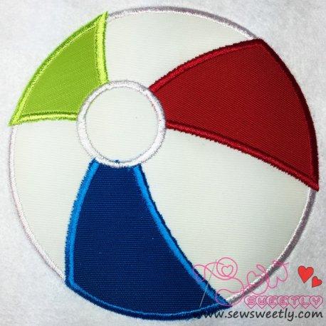 Beach Ball Applique Design For Sports Event