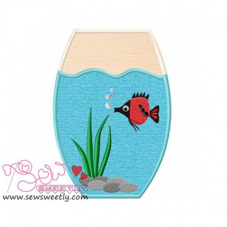Fish Bowl-1 Applique Design Pattern- Category- Sea Life Designs- 1
