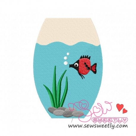 Fish Bowl-1 Machine Embroidery Design For Kids