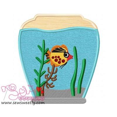 Fish Bowl-2 Applique Design