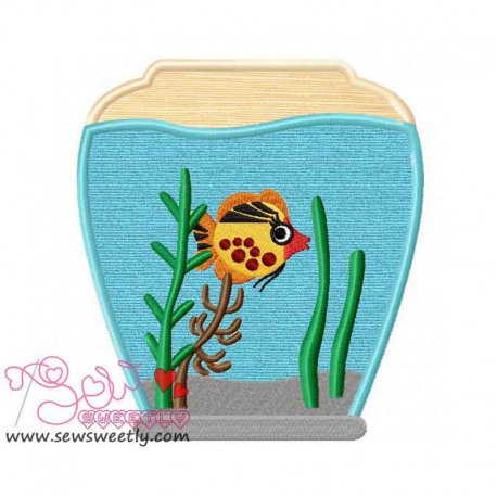 Fish Bowl-2 Machine Applique Design For Kids