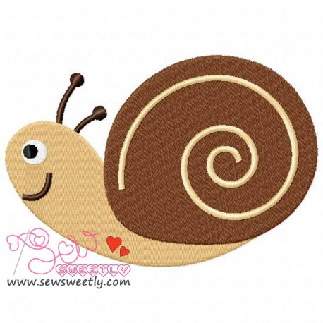 Forest Friends Snail Machine Embroidery Design For Kids