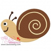Forest Friends Snail Embroidery Design