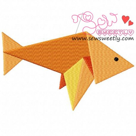 Origami Fish Embroidery Design Pattern- Category- Sea Life Designs- 1