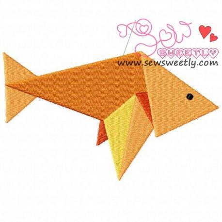 Origami Fish Machine Embroidery Design For Kids