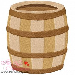 Pirates barrel Embroidery Design