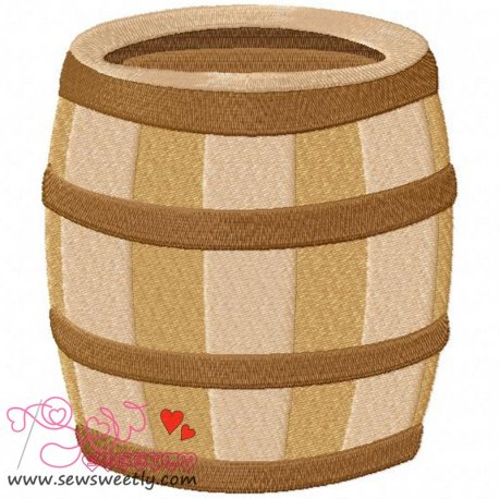 Pirates barrel Machine Embroidery Design For Kids
