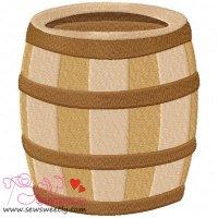 Pirates barrel Embroidery Design