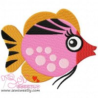 Sweet Fish-1 Embroidery Design