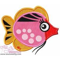 Sweet Fish-1 Applique Design